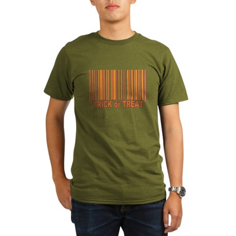 Barcode Trick or Treat Organic Men's T-Shirt (dark