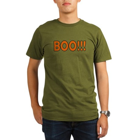 Boo Halloween Organic Men's T-Shirt (dark)