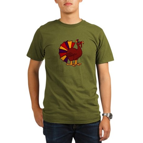 Funny Thanksgiving Turkey Organic Men's T-Shirt (d