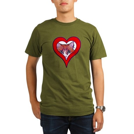 I love my cat Organic Men's T-Shirt (dark)
