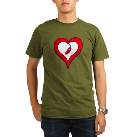 Red Hot Pepper Valentine Organic Men's T-Shirt (da