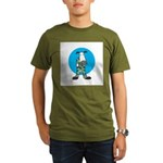Military Cow in Camo Organic Men's T-Shirt (dark)