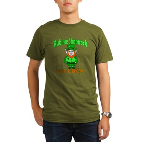 Funny Leprechaun Irish Organic Men's T-Shirt (dark