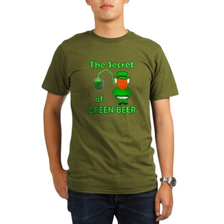 Funny Green Beer Organic Men's T-Shirt (dark)