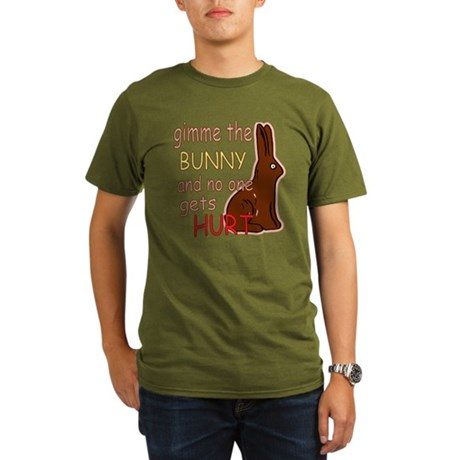 Funny Easter Organic Men's T-Shirt (dark)