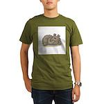 Silly Little Sleeping Bear Organic Men's T-Shirt (