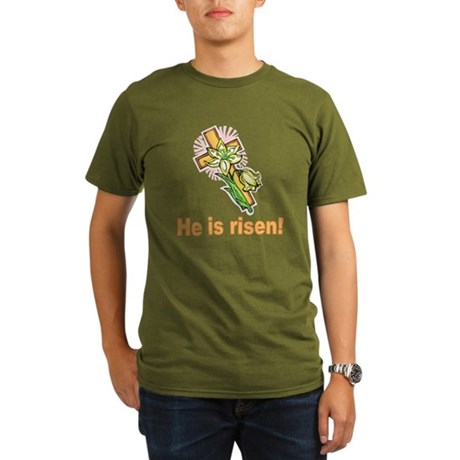 He is Risen Organic Men's T-Shirt (dark)