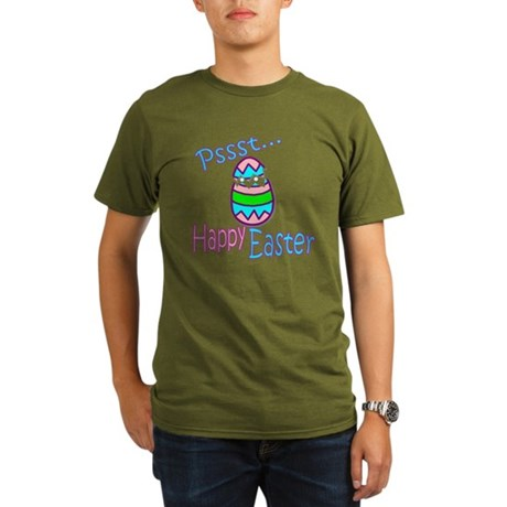 Happy Easter Chick Organic Men's T-Shirt (dark)