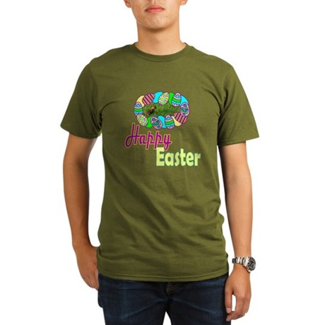 Happy Easter Bunny Organic Men's T-Shirt (dark)