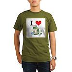 I Heart (Love) Green Olives Organic Men's T-Shirt