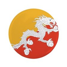 "Flag of Bhutan 3.5"" Button"