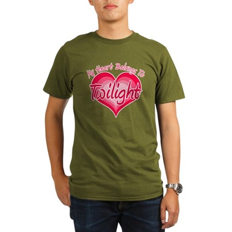 Heart Belongs Twilight Organic Men's T-Shirt (dark