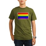 Rainbow Pride Flag Organic Men's T-Shirt (dark)