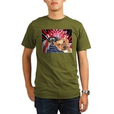 Patriotic Dachshund Dogs T-Shirt