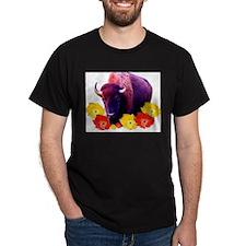Buffalo Blooms Black T-Shirt