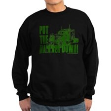 Trucker-Hammer Down-Grn Sweatshirt