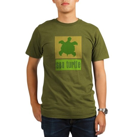 Bar Code Turtle Organic Men's T-Shirt (dark)