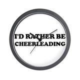 Rather be Cheerleading Wall Clock