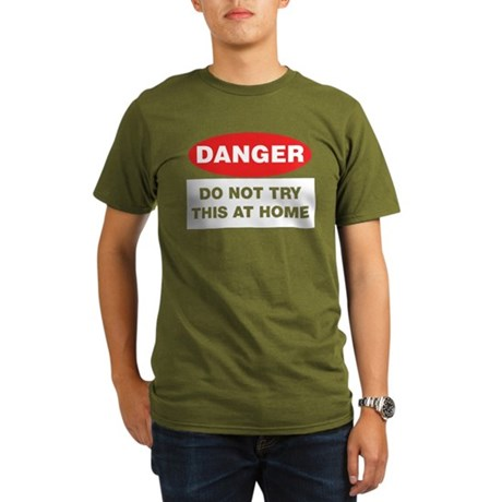 Do Not Try This Organic Men's T-Shirt (dark)