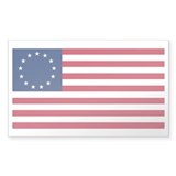 13 Stars Betsy Ross Flag Rectangle Sticker 10 pk)