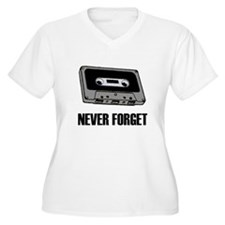 Never Forget Cassettes Tapes T-Shirt