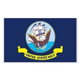 U.S. Navy Flag Rectangle Decal