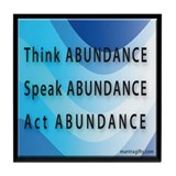 Think Abundance Tile Coaster