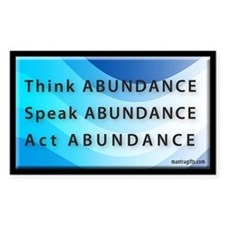 Think Abundance Rectangle Decal