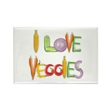 I Love Veggies Rectangle Magnet (100 pack)