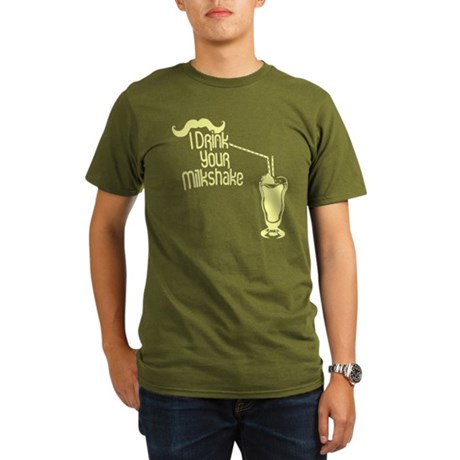 I Drink Your Milkshake Organic Mens Dark T-Shirt