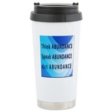 Think Abundance Ceramic Travel Mug