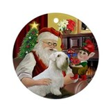 Santa's Sealyham Terrier Ornament (Round)