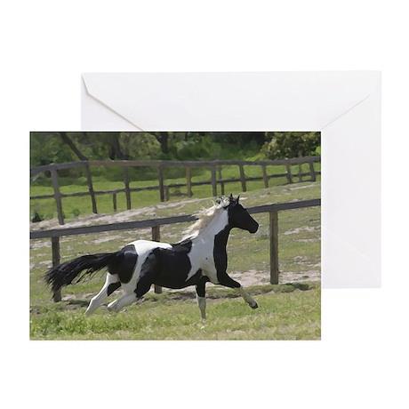 Galloping Pinto horse 10/pk- blank-boxed