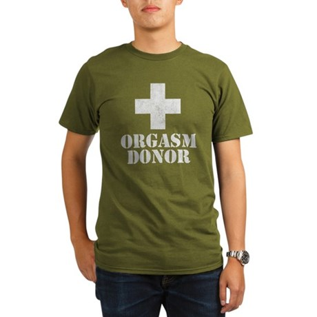Orgasm Donor Organic Mens Dark T-Shirt