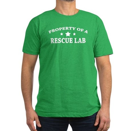 Property of a Rescue Lab Men's Fitted T-Shirt (dar