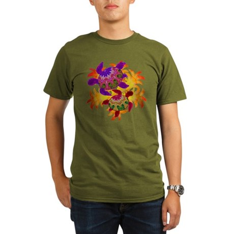 Flaming Turtles Organic Men's T-Shirt (dark)