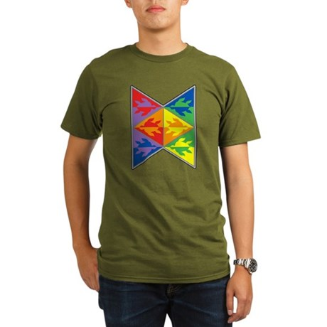 Rainbow Triangle Turtles Organic Men's T-Shirt (da