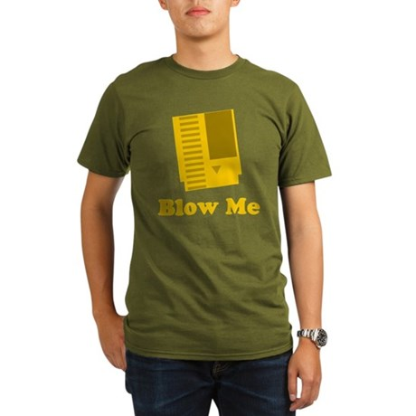 Blow Me Organic Mens Dark T-Shirt