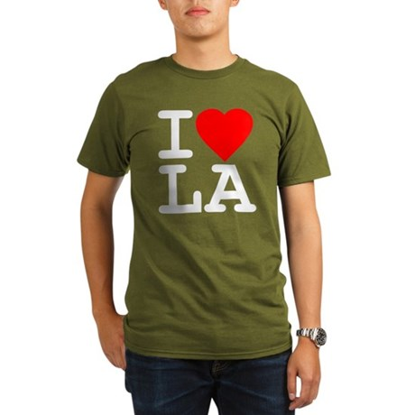 I Love LA Organic Mens Dark T-Shirt