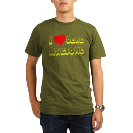 I Love [Heart] Being Awesome Organic Mens T-Shirt