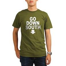 Go Down South ↓ Organic Mens Dark T-Shirt
