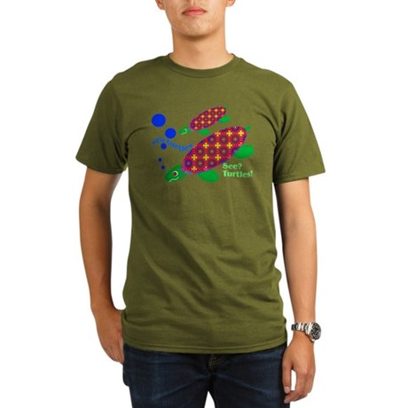 See? Turtles! Organic Men's T-Shirt (dark)