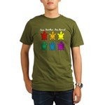 Sea Turtles are Love Organic Men's T-Shirt (dark)