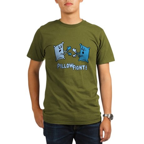 Pillow Fight Organic Mens Dark T-Shirt