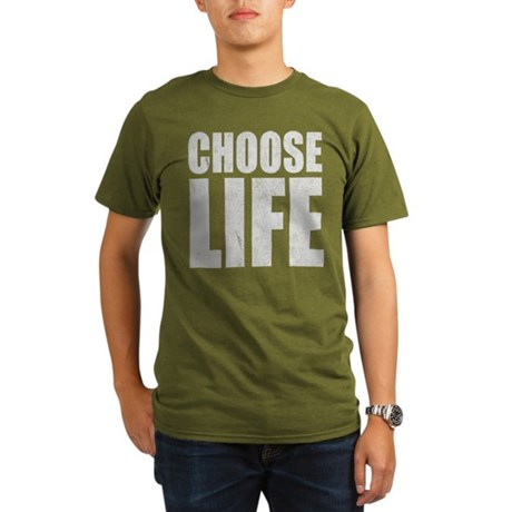 Choose Life Organic Mens Dark T-Shirt