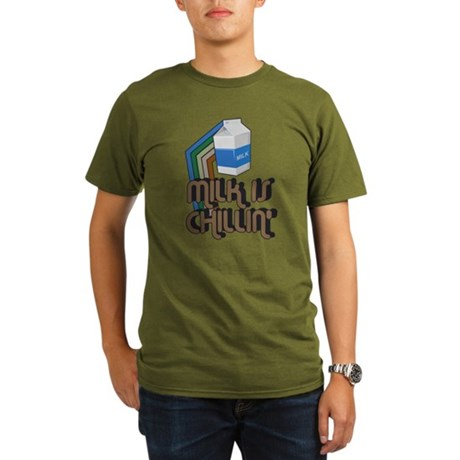 Milk is Chillin' Organic Mens Dark T-Shirt