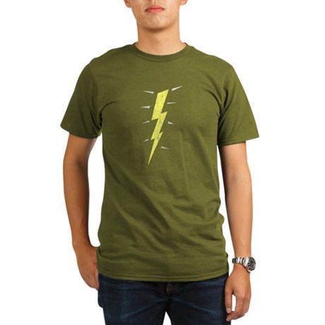 Lightning Bolt (Vintage) Organic Mens Dark T-Shirt