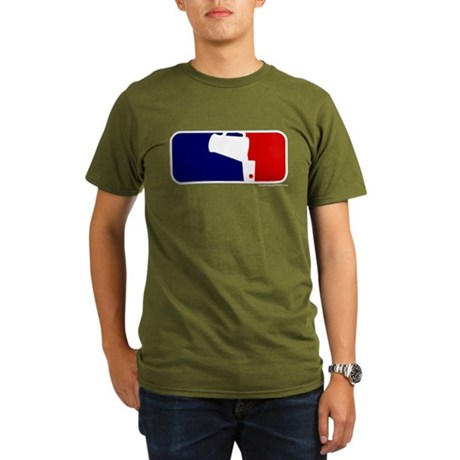 Beer Pong League Logo Organic Men's T-Shirt (dark)