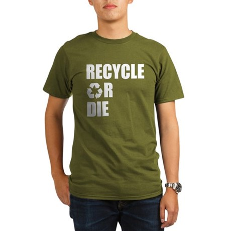 Recycle or Die Organic Mens Dark T-Shirt