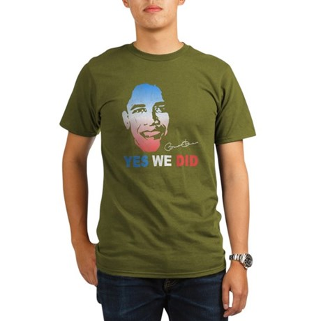 Yes We Did T-Shirt Organic Mens Dark T-Shirt